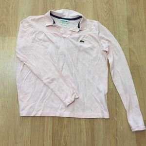 NWOT Long Sleeve Lacoste Polo Pink S