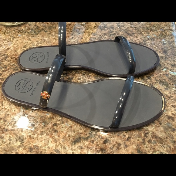 93d90063ee97 Tory Burch Two-Band Jelly Slides Navy Size 7. M 5778538d620ff7cd27011ab6