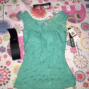 Brand new lace shirt with tag