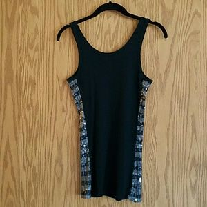 The Limited Tops - The LIMITED Sequin black/grey tank sz M