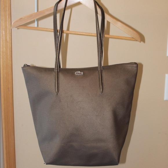 6434a04e737 Lacoste Handbags - LACOSTE L1212 CONCEPT VERTICAL TOTE BAG in Bronze