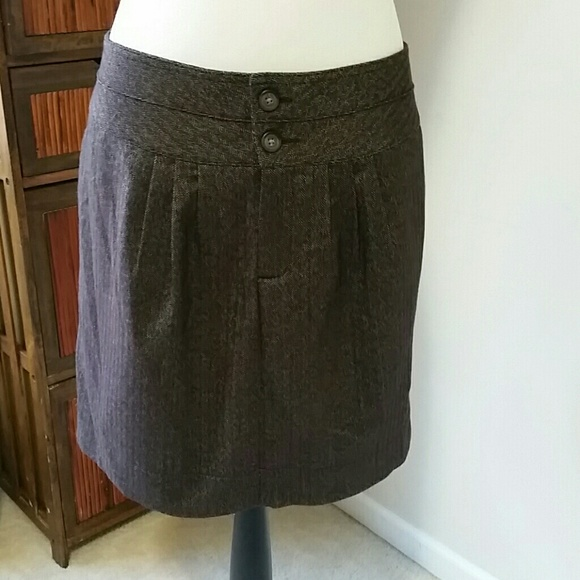 70% off GAP Dresses & Skirts - GAP Sz 16 brown tweed mini skirt ...