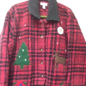 Classic Talbots Holiday Cardigan!