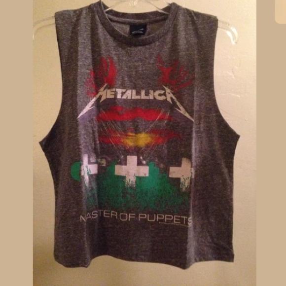 e12a80985fd57 Bravado Tops - Bravado Metallica master of puppets crop tank top