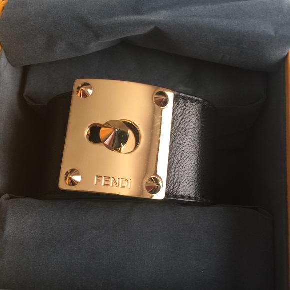 74603c57cdb FENDI Jewelry - Fendi Leather Cuff Bracelet