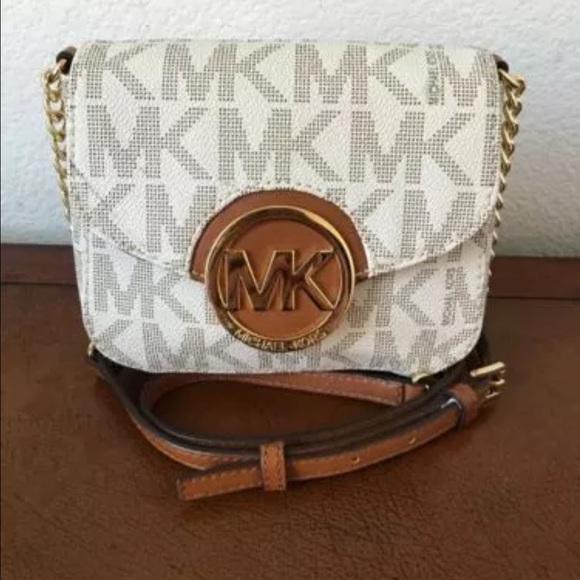 mk white crossbody