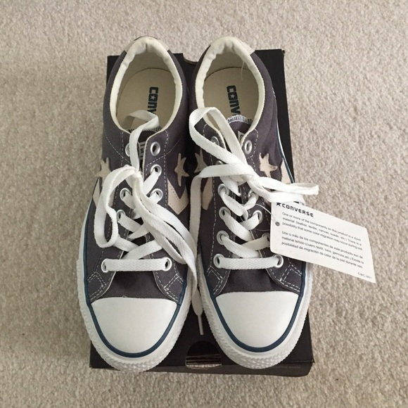 bc4d355bc57 NEW Grey Converse with star on side