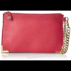Foley + Corinna Handbags - Foley & Corinna Framed Pink Leather Lined Clutch