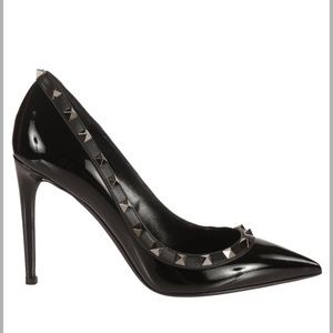 Valentino Shoes - Valentino Rockstud Leather 100mm Pump, Black