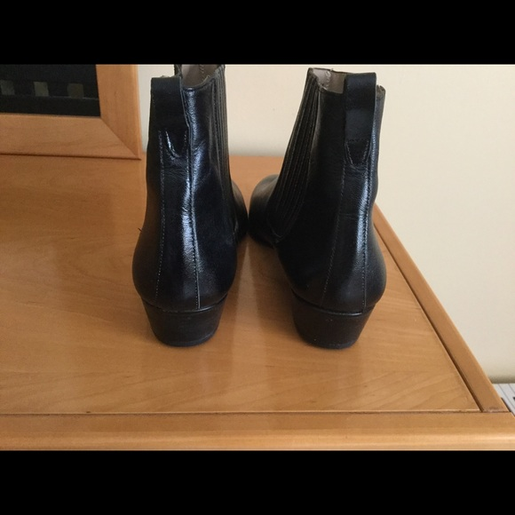 b9745145799 YSL womens ankle boots Sz 8,5 black leather boots NWT