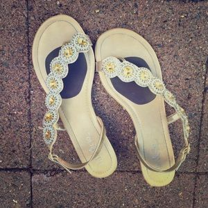 Fibi & Clo Shoes - Fibi & Clo Gold Cascade Sandals