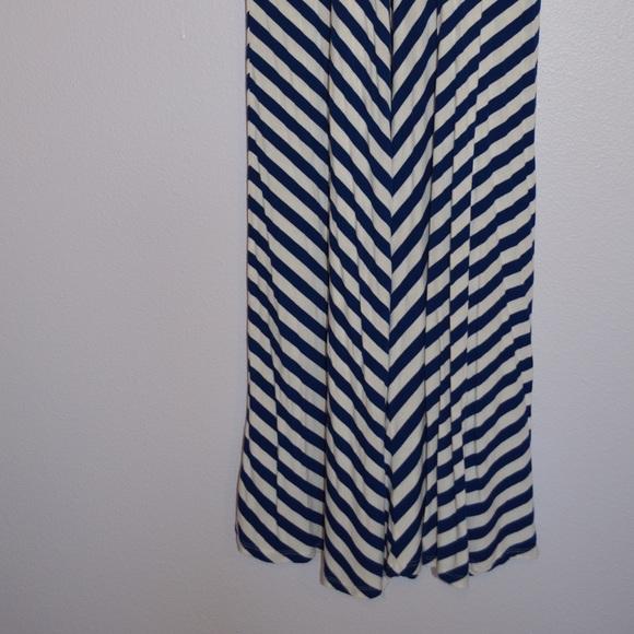 60 merona dresses skirts blue and white striped