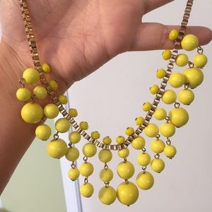 Bright Yellow Bauble Statement Necklace