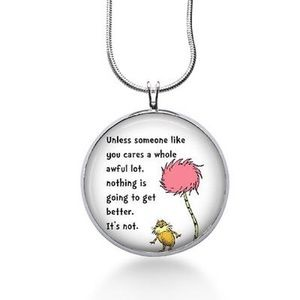 Dr. Seuss quote necklace someone like you cares