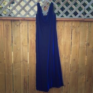 Betsy & Adam Dresses & Skirts - Iridescent Royal Blue & Black Gown