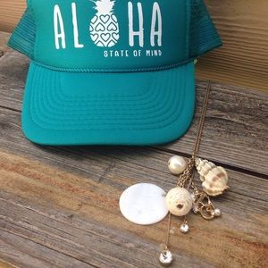 beach vibes long chain necklace