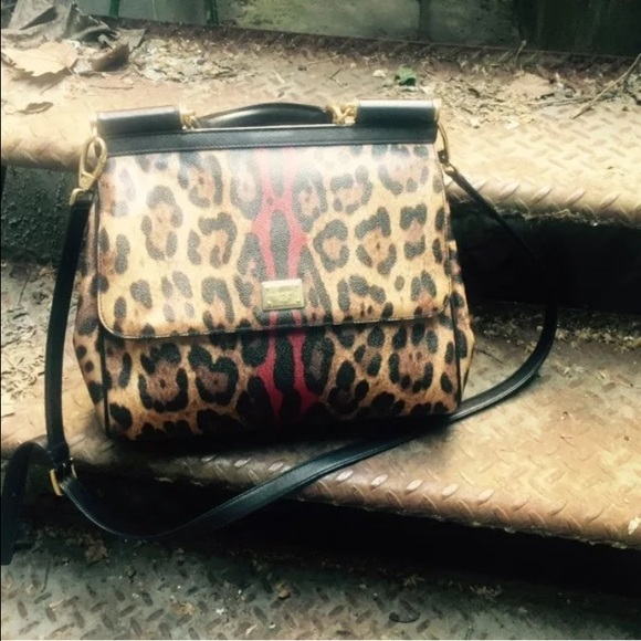 96150190915b Dolce   gabbana miss Sicily large leopard cheetah
