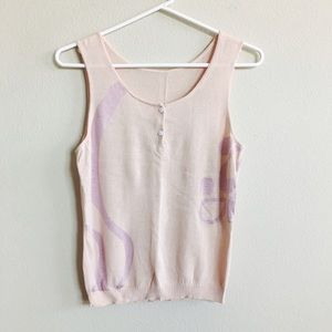 Tops - NWOT Pink Silk Blend Tank Top