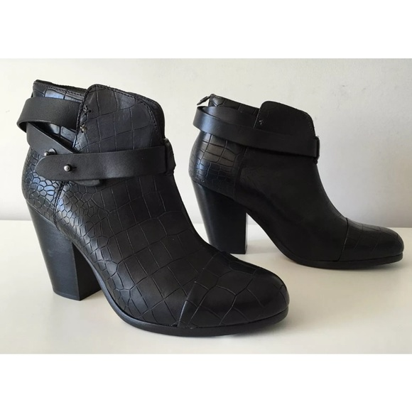 Rag & Bone Embossed Round-Toe Booties outlet marketable 2014 unisex sale online x7OJ7B