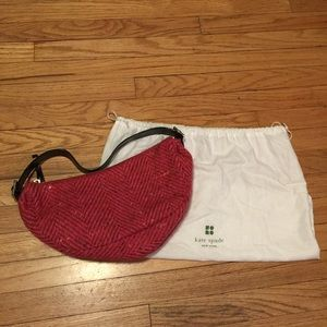 Authentic Kate Spade pink wool purse