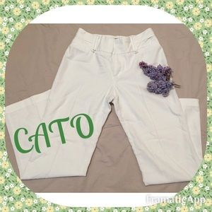 ☘Lightweight, White, Summer Pants by CATO-NWOT☘