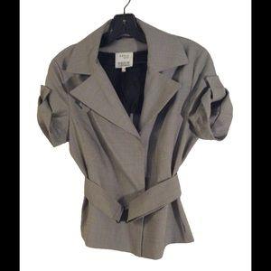 Akris Punto Jackets & Blazers - Akris Punto Cropped Trench Mini Houndstooth Jacket