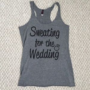 'Sweating for the Wedding' Bride Workout Tank