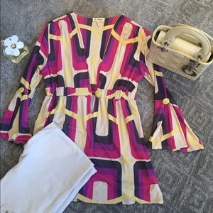 🎊HP- 4/12/17🎊💖Colorful patterned tunic top💖