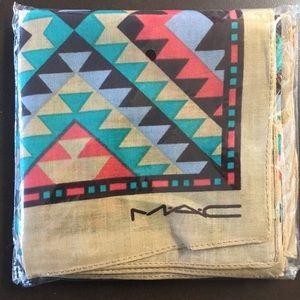 MAC Cosmetics Accessories - Mac bandanas. Both patterns come together.