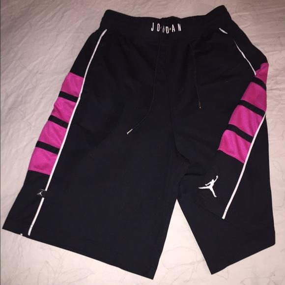 b58d8482ea25 Jordan Pants - JORDAN HOT PINK   BLACK DRI-FIT BASKETBALL SHORTS
