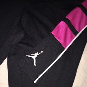b7d851895989 Jordan Shorts - JORDAN HOT PINK   BLACK DRI-FIT BASKETBALL SHORTS