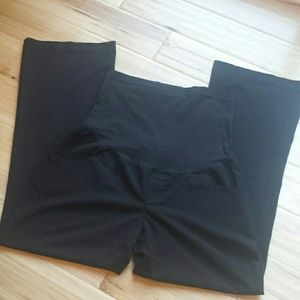 Liz Lange Pants - Hi Panel Maternity Career Slack 10 Black Wide leg