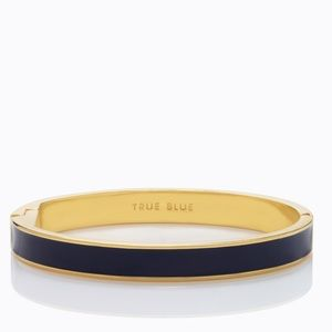 kate spade Jewelry - 'True Blue' Kate Spade Idiom Bangle