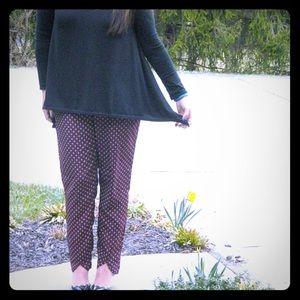 H&M Silky Patterned Elastic Pants