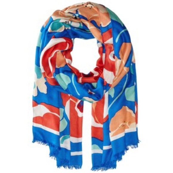 kate spade Accessories - Kate Spade 'Dive Right' in Multi Floral Scarf