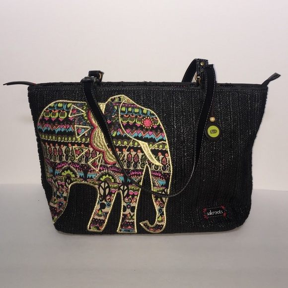 7d752d97c76f Sakroots duffle bag with a Elephant on front. M 57792a64f739bc28860031a1
