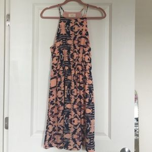 NWT Peach and navy Everly dress size M