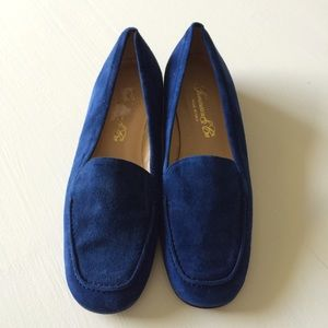 FIERAMOSCA & CO $225 Cobalt Suede Loafers. Sz 6.5