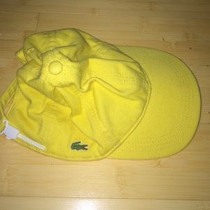 68c7e02c03e9 Lacoste Accessories - Rare vintage Lacoste baseball hat Lemon Yellow