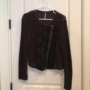 Free People knit sweater/jacket (medium)