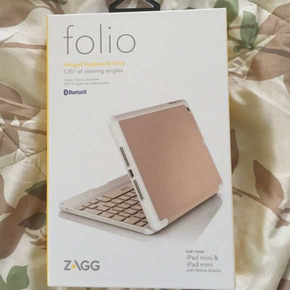 50 off zagg accessories zagg ipad mini 123 keyboard folio zagg accessories zagg ipad mini 123 keyboard folio rose gold ccuart Image collections