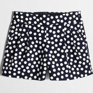 J. Crew scattered dots basketweave shorts