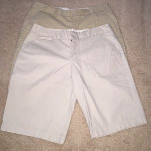2 pairs of Merona Target Khaki Shorts Women's 10