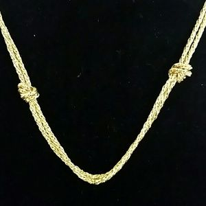 Jewelry - Gold double chain knot necklace