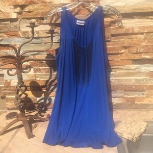Tops - 🌺 NWOT lapis long tunic or short dress w/necklace