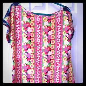 Lilly Pulitzer silk blouse Large NWT