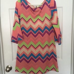 Auditions chevron dress
