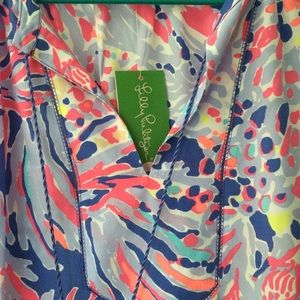 NWT. Lilly Pulitzer silk blouse Large