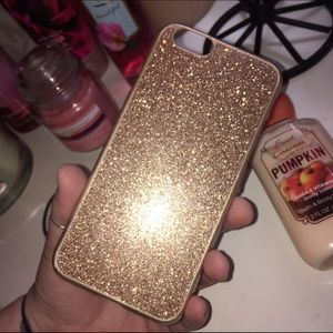 Accessories - Glitter Gold iPhone 6/6s snap on case ♡