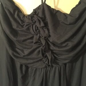 Halter top black dress XL